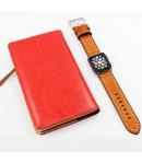 Pulsera de Cuero para Apple Watch Piel Marrón 42mm/44mm iWatch Series 5/4/3/2/1