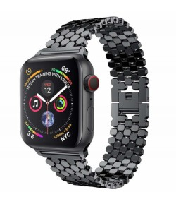 Pulsera de Diseño Hexa Acero Inox para Apple Watch 42mm/44mm iWatch Series 5/4/3/2/1