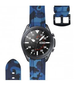 Pulsera de Silicona para Samsung Galaxy Watch 3 45mm / Gear S3 Frontier / Classic Camuflaje Ejercito, 22mm